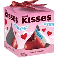 Hershey's Kisses, Solid Milk Chocolate Valentine's Candy, 7 Oz.