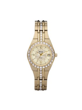 Relic by Fossil Women's Queen's Court Stainless Steel Gold Watch