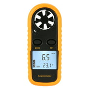 Digital Wind Speed Gauge Handheld Anemometer Air Flow Velocity Meter Measuring Wind Speed Temperature with LCD Backlight for Windsurfing Kite Flying Sailing Surfing Fishing