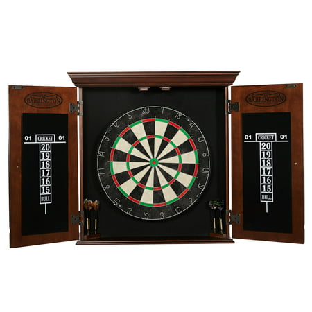 Barrington Chatham Bristle Dartboard and Cabinet Set, Brown