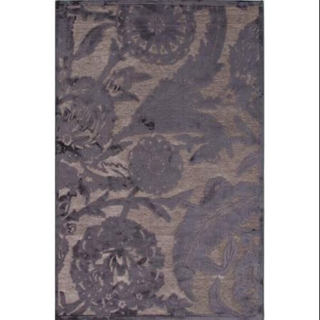 Contemporary Floral Amp Leaves Pattern Gray Rayon And