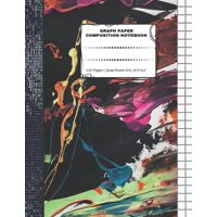 "Graph Paper Composition Notebook : 110 Pages - Quad Ruled 4x4 - 8.5"" x 11"" Marble Large Notebook with Grid Paper - Math Notebook For Students (Paperback)"
