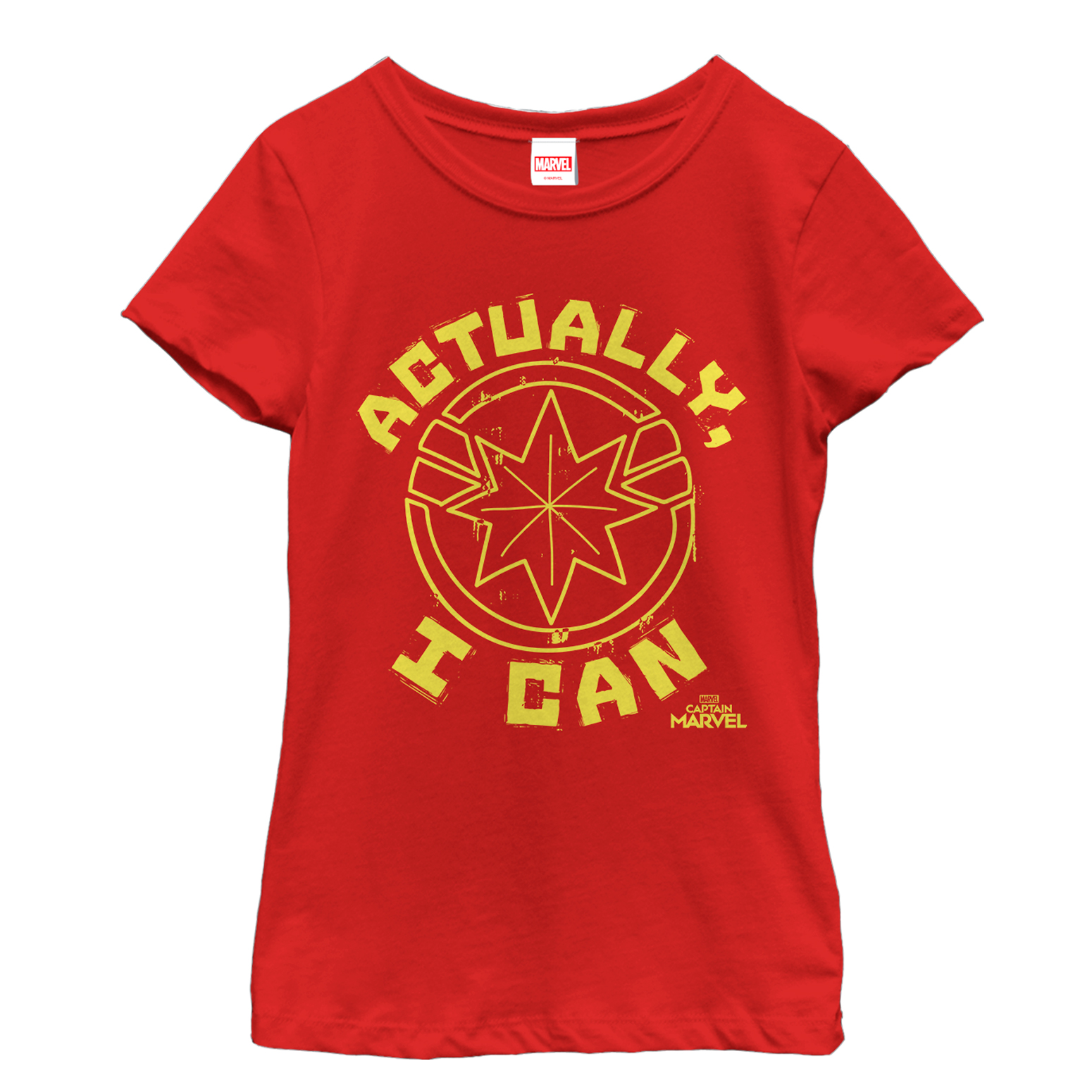 Marvel Girls' Captain Marvel Actually Can Quote T-Shirt