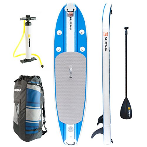Click here to buy Driftsun SUP Inflatable 10' Stand Up Paddle Board Package. Everything Included: Board, Fins, Paddle, Pump and Carry... by Driftsun.