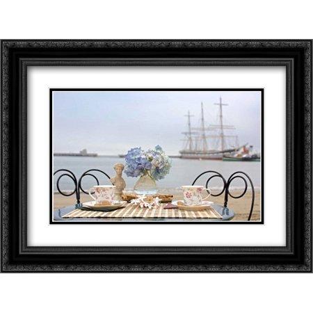 Dream Cafe Hyde St Pier - 33 2x Matted 24x18 Black Ornate Framed Art Print by Blaustein, Alan