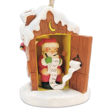 Potty Santa Naughty / Nice List Pooping St. Nick Outhouse Christmas Ornament](St Patricks Day Ornaments)