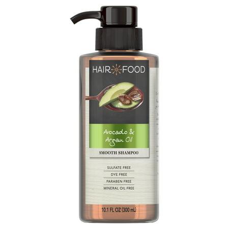 Hair Food Avocado & Argan Oil Sulfate Free Shampoo, 10.1 fl oz, Dye Free