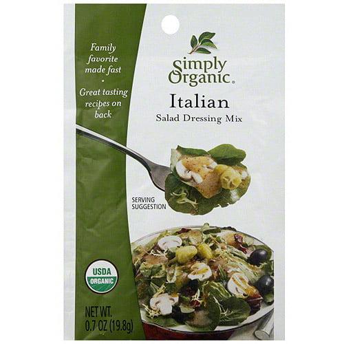 Simply Organic Italian Salad Dressing Mix, 0.7 oz (Pack of 12)