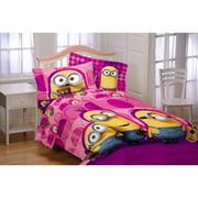 Minions 'Girl Buddy' Buddy Microfiber Twin Reversible Bedding Comforter