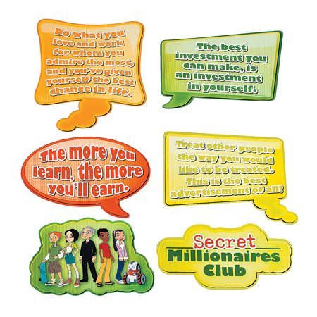 Fun Express - Secret Money Millionaires Cutouts - Educational - Learning Aids - Learning Charts - 6 Pieces](Learning Express Miami)