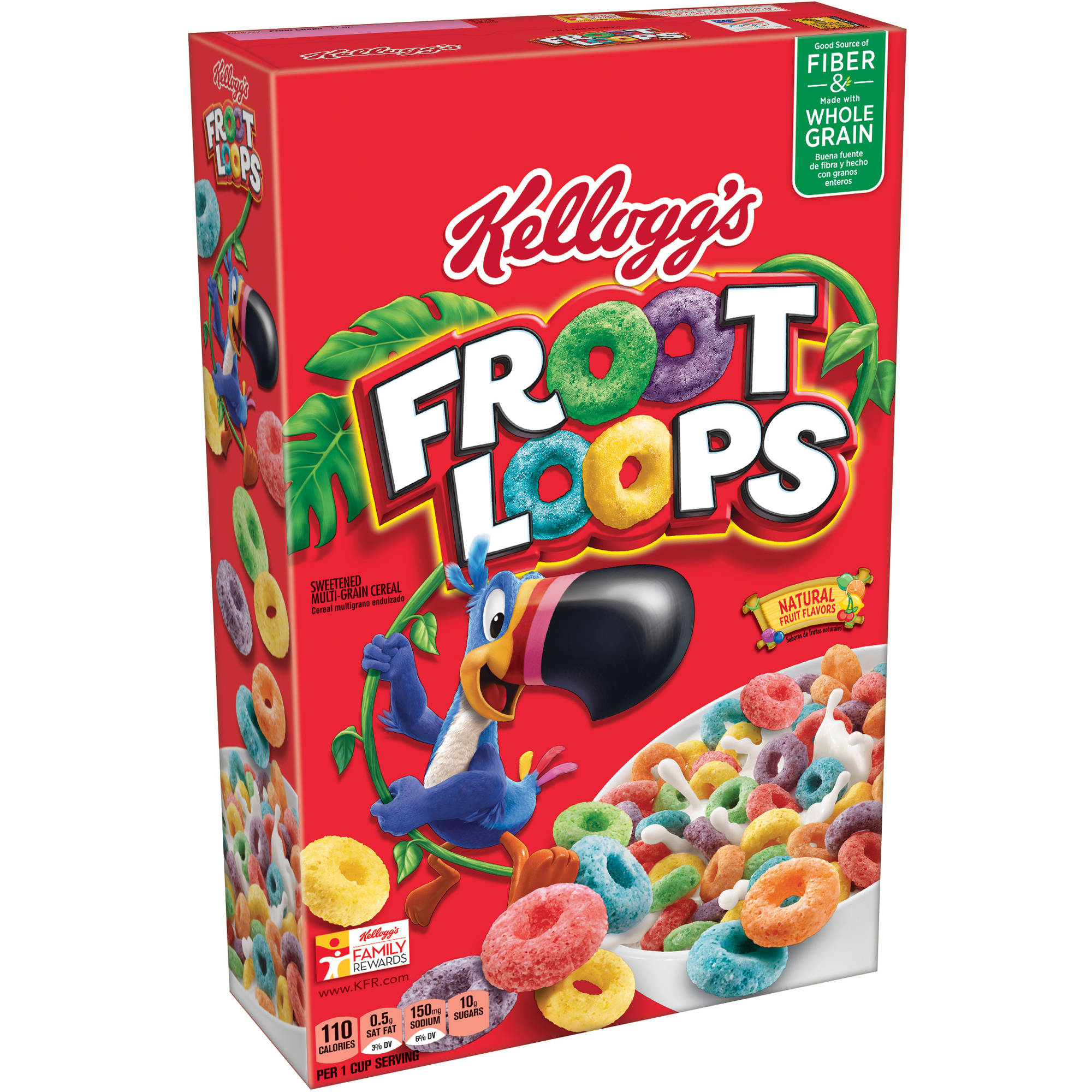 Kellogg's Froot Loops Cereal, 12.2 oz, (Pack of 16)