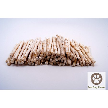 Rawhide Natural Twist Sticks -Pack of 100 From Top Dog Chews