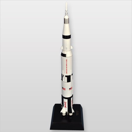 Saturn V With Apollo Desktop Wood Model