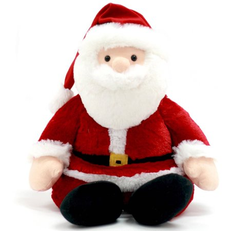 holiday time 21 lovely chubby santa claus plush toys - Stuffed Santa Claus