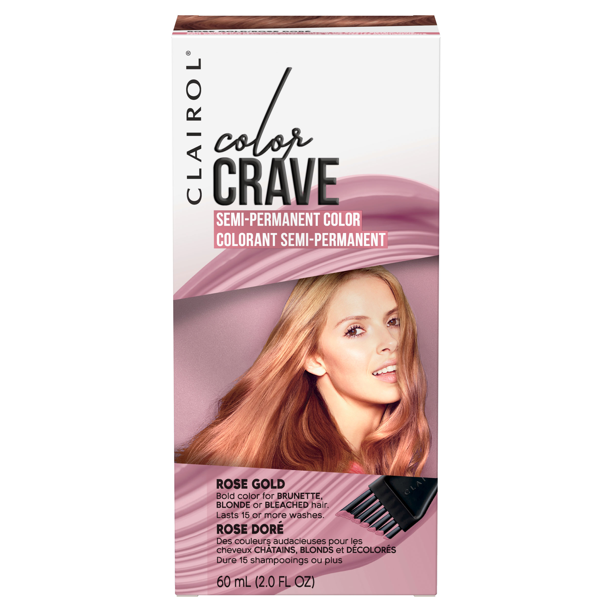 Clairol Color Crave Semi Permanent Hair Color Rose Gold Walmart Com