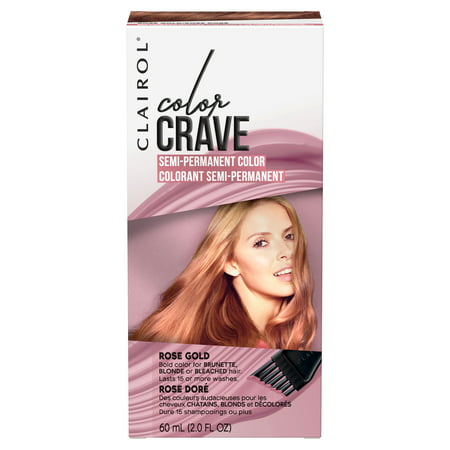 Clairol Color Crave Semi-Permanent Hair Color, Rose Gold