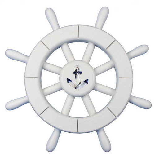 Handcrafted Nautical Decor Decorative Ship Wheel with Anchor Wall D cor