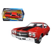 """Dom's Chevrolet Chevelle SS Red """"Fast & Furious"""" Movie 1/24 Diecast Model Car by Jada"""