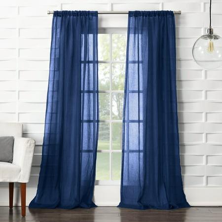 Nylon Single Panel - No. 918 Vida Semi-Sheer Rod Pocket Single Curtain Panel