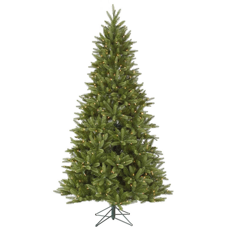 7.5' Medium Bradford Pine Artificial Christmas Tree - Clear Dura Lights