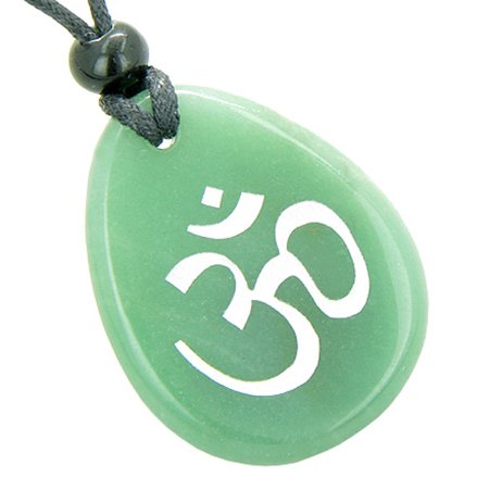 A Money Talisman Lucky Om Symbol Wish Stone Gemstone Pendant