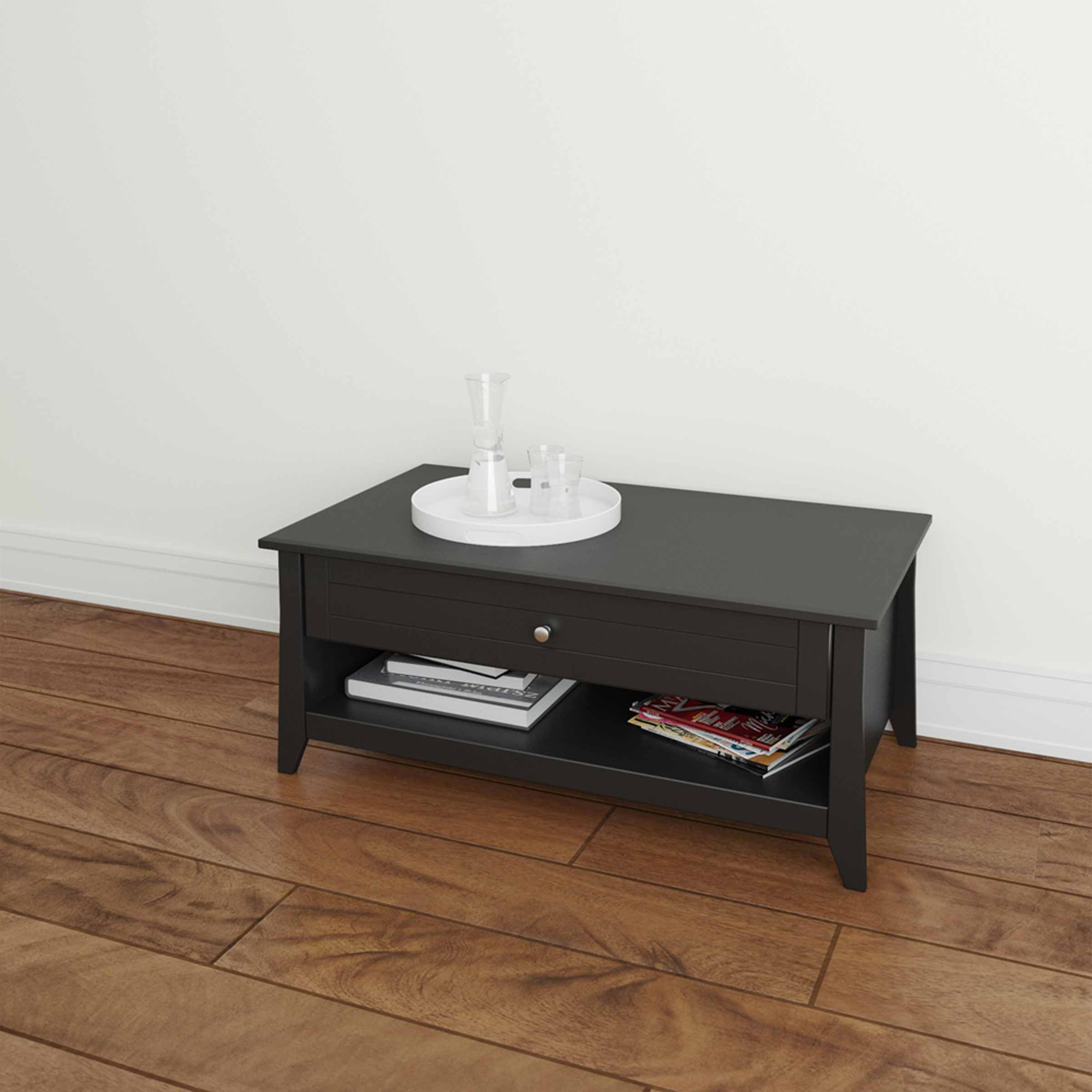 Tuxedo Coffee Table, Black