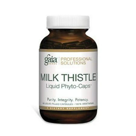Gaia Herbs Milk Thistle Seed Vegetarian Liquid Phyto Caps  60 Ct