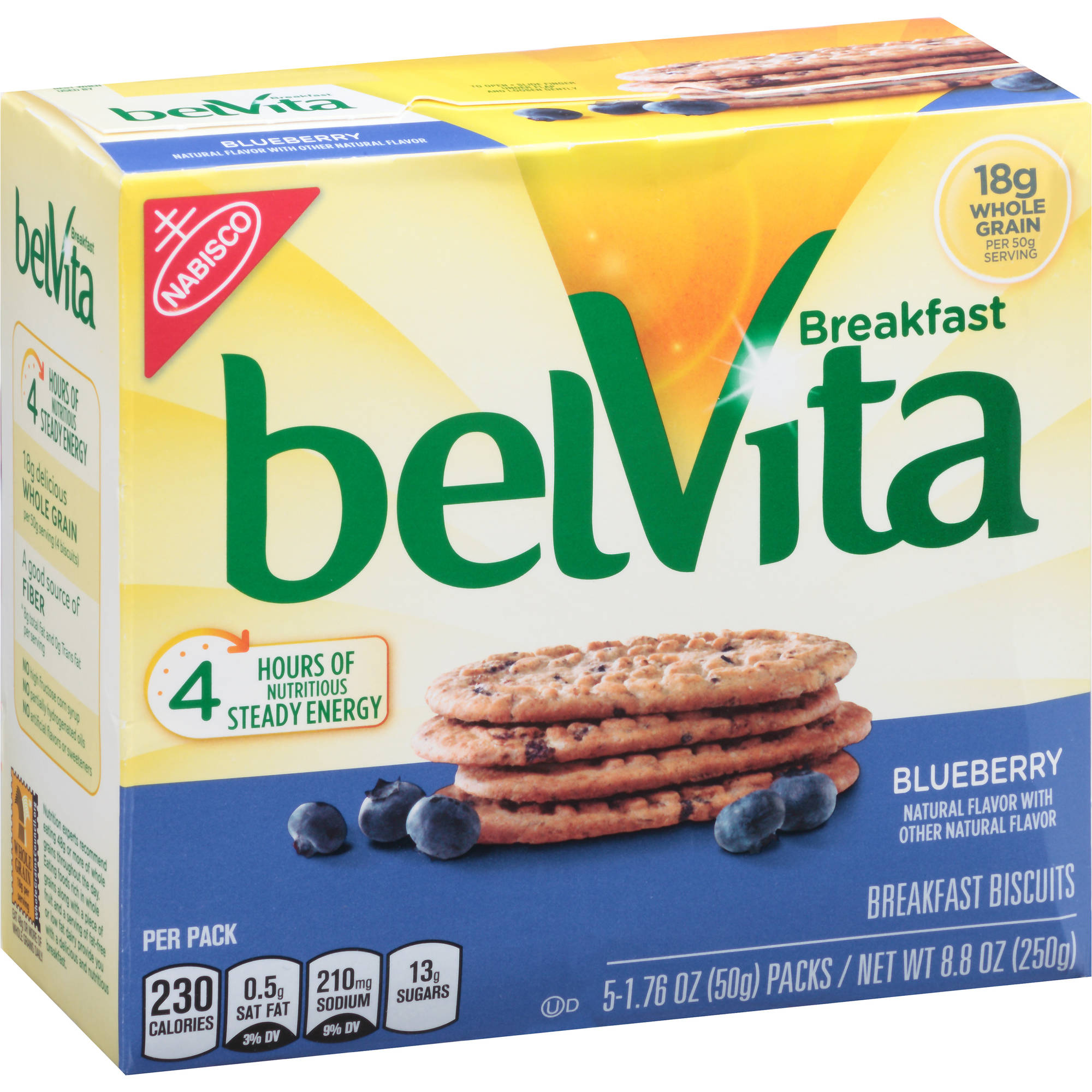 Nabisco belVita Blueberry Breakfast Biscuits, 1.76 oz, 5 count