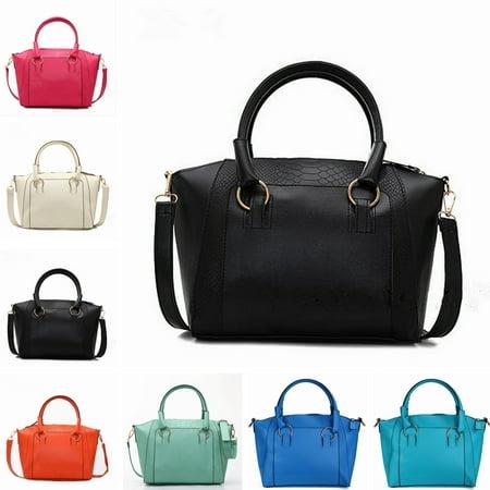 Fashion Handbag Shoulder Messenger Bag Crocodile Grain Large Vintage For Women Lady ()