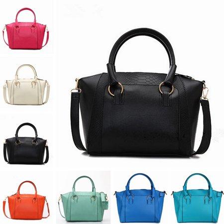 Fashion Handbag Shoulder Messenger Bag Crocodile Grain Large Vintage For Women Lady (Vintage Crocodile Handbags)