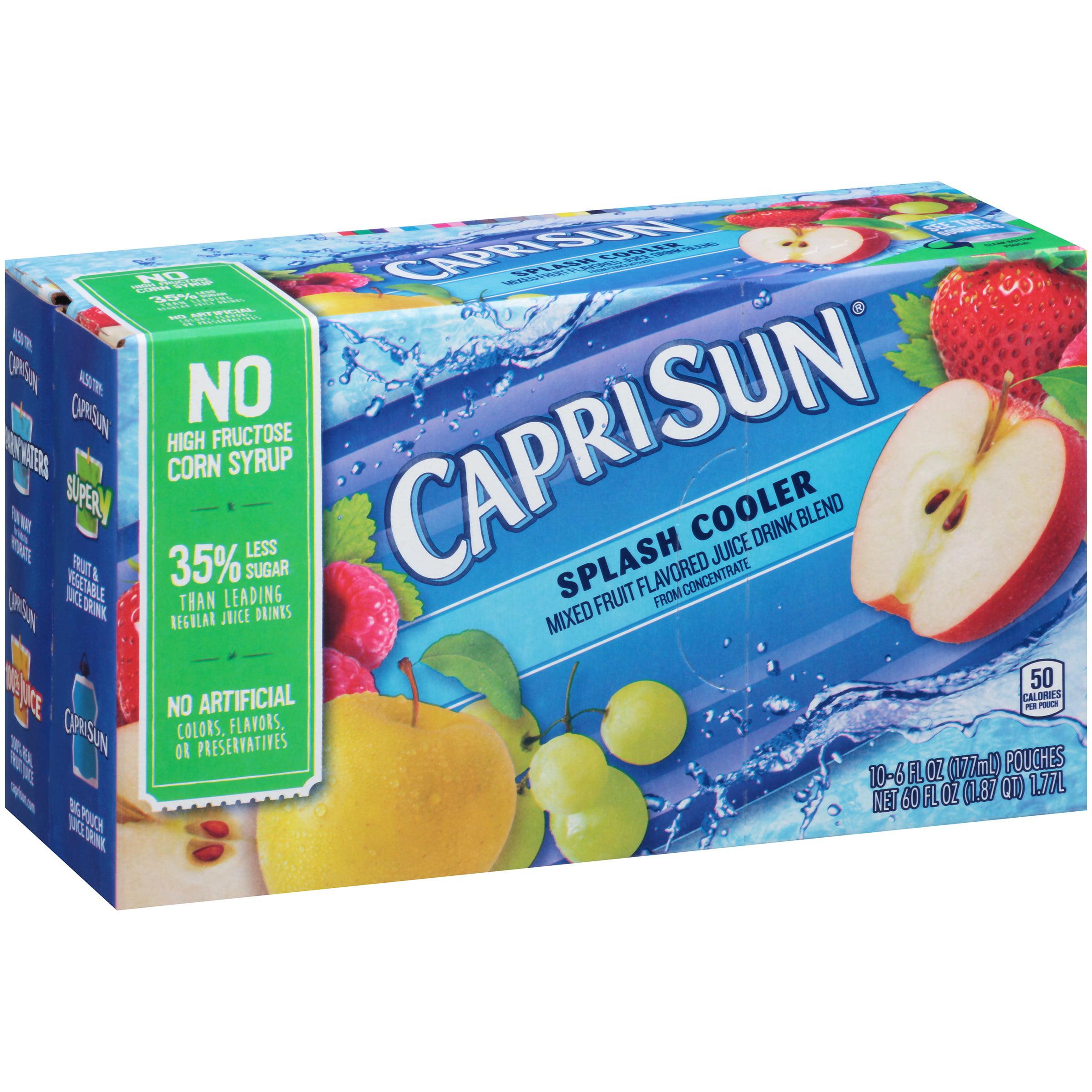 Capri Sun Splash Cooler Ready-to-Drink Soft Drink, 10 - 6 fl oz Pouches