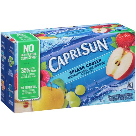 (4 Pack) Capri Sun Splash Cooler Ready-to-Drink Soft Drink, 10 - 6 fl oz Pouches