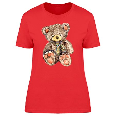 Teddy Bear In Cute Watercolor Tee Women's -Image by Shutterstock