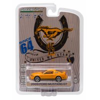 """Greenlight: 2009 Ford Mustang GT """"45th Anniversary Edition"""" (Orange) 1/64 Scale"""