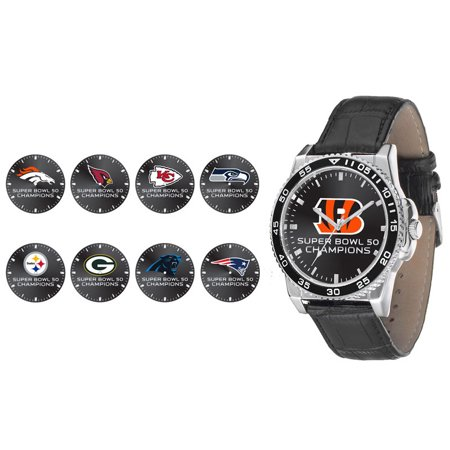 Rico Industries Denver Broncos Super Bowl 50 Champion Mens Watch   Champ