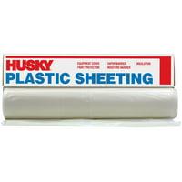 Husky 6 mL Polyethylene Opaque Plastic Sheeting, 16' x 100'