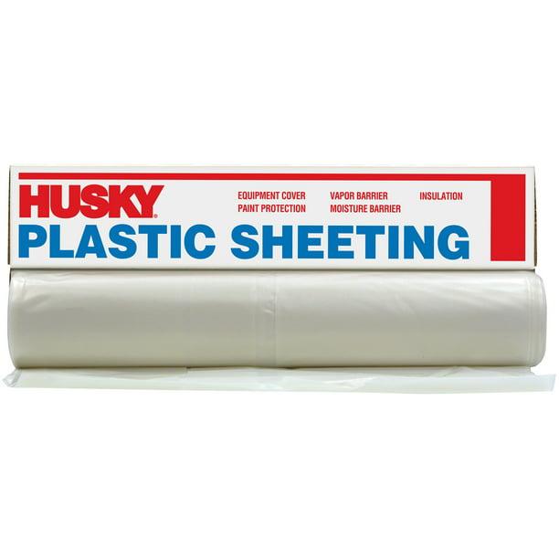 Husky 6 Ml Polyethylene Opaque Plastic Sheeting 16 X 100 Walmart Com Walmart Com