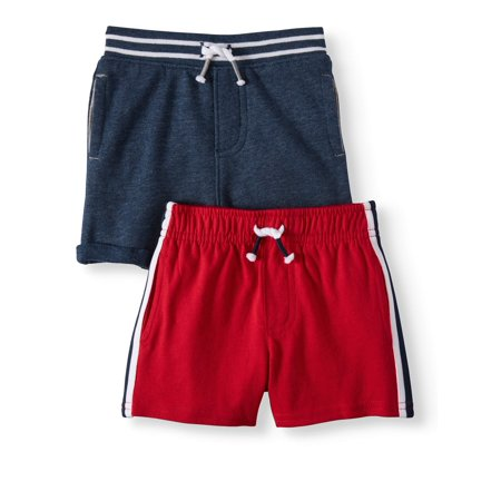 Infant Boy Clothes - Garanimals French Terry & Knit Side-Stripe Shorts, 2pc Multi-Pack (Baby Boys)