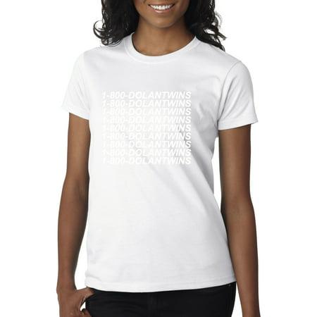 58a6e283e New Way - New Way 761 - Women's T-Shirt 1-800-DOLANTWINS Dolan Twins Hotline  Bling XS White - Walmart.com