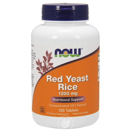 - Now Foods Red Yeast Rice 1200 mg, 120 tabs, Pack of 2