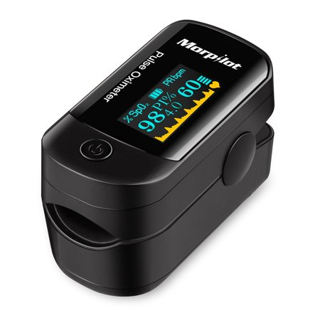 500DL Fingertip Pulse Oximeter Blood Oxygen Saturation Monitor with silicon cover, lanyard and batteries
