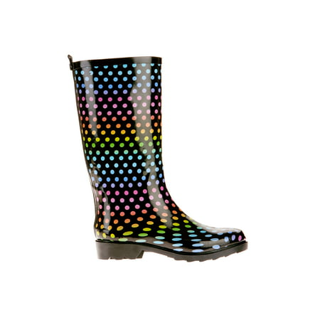 26a9cd75f9fc Time and TRU - Time and Tru Women s Print Rain Boot - Walmart.com