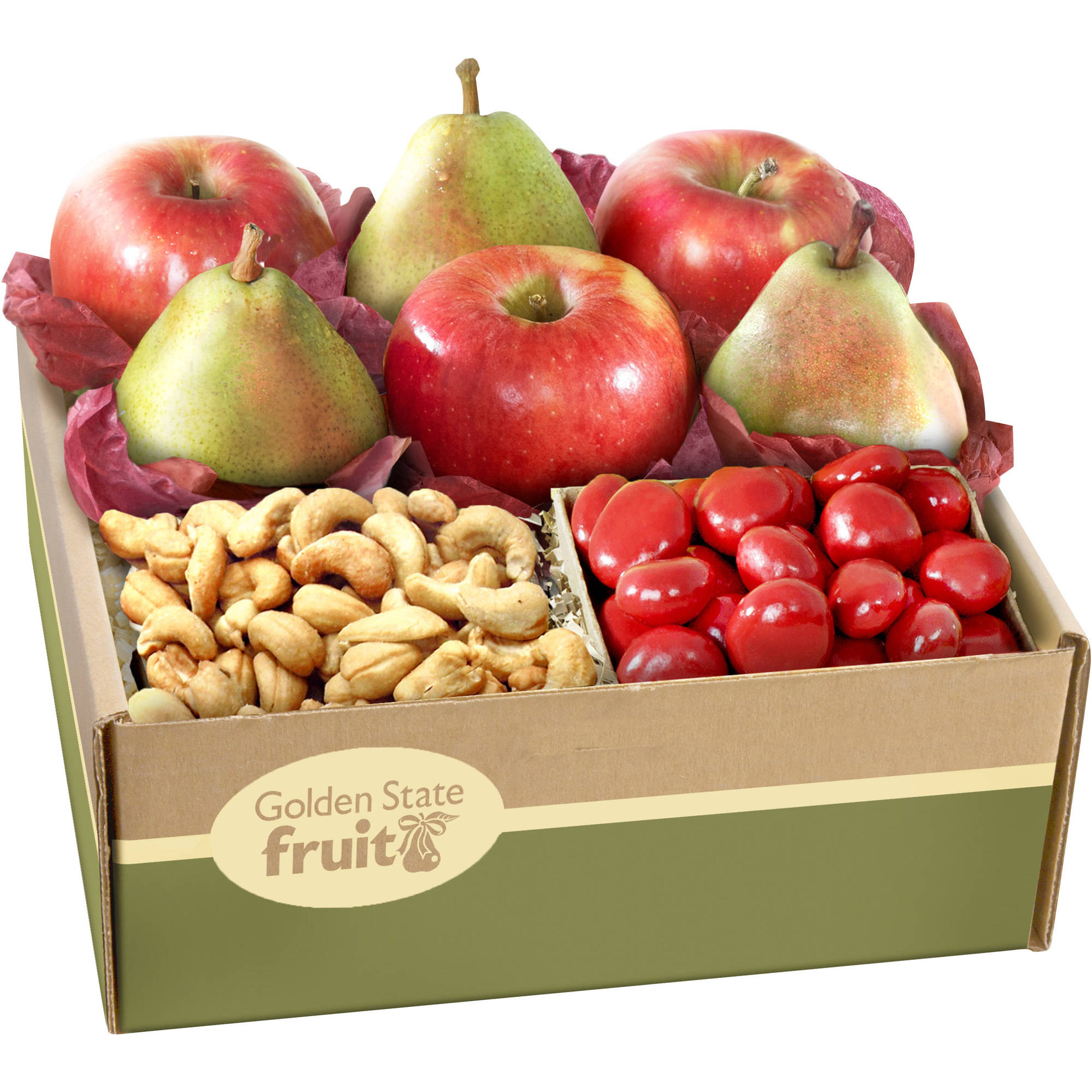 Golden State Fruit Best Wishes Classic Fruit & Snacks Gift Box, 8 pc
