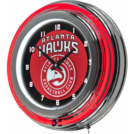 "Atlanta Hawks NBA 14"" Neon Wall Clock by"