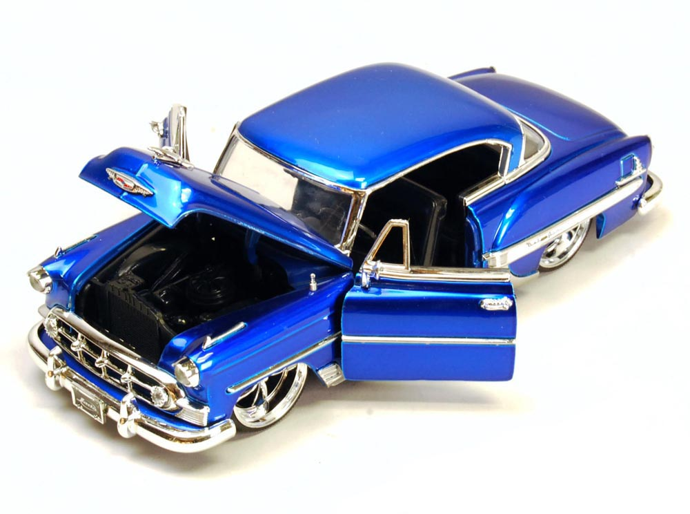 1953 Chevy Bel Air, Blue Jada Toys Bigtime Kustoms 50237 1 24 scale Diecast Model Toy Car... by Jada