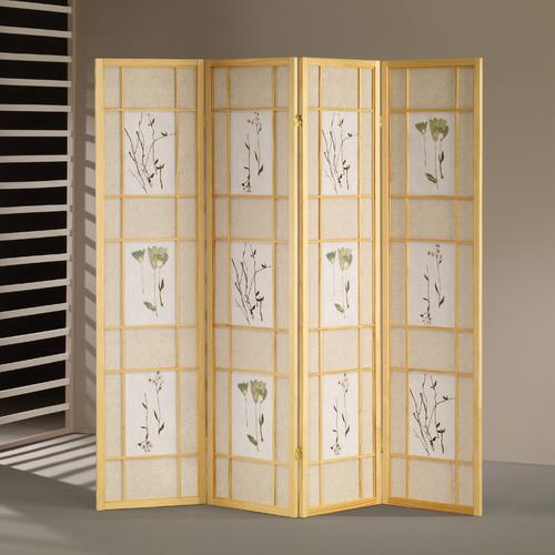Windward Wildon Home  70'' x 68'' Shoji 4 Panel Room Divider