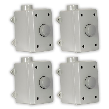 (Theater Solutions OVCDG Outdoor Volume Controls Gray Weatherproof Dial 4 Control Set)