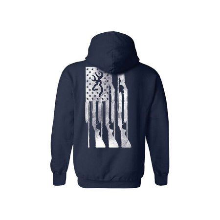 Browning Men's Rifle Flag Hoodie Airsoft Electric Lpeg Rifle