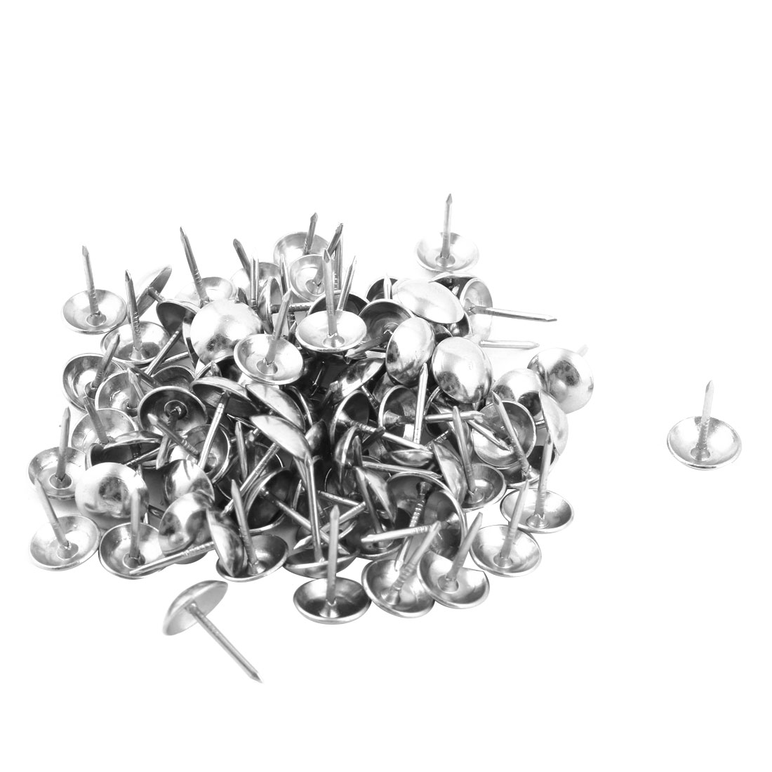 Office Metal Upholstery Tack Nail Wall Pushpin Silver Tone 10 x 15mm 100pcs