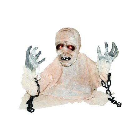 Animated Groundbreaker Mummy with Lights & Sounds Halloween Decoration